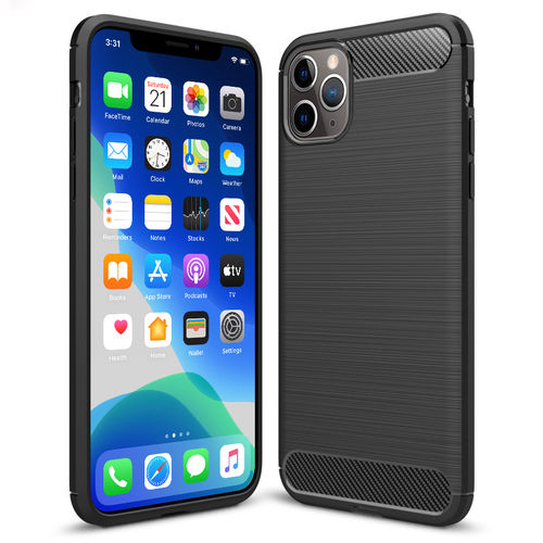 Flexi Slim Carbon Fibre Case - Apple iPhone 11 Pro Max - Brushed Black
